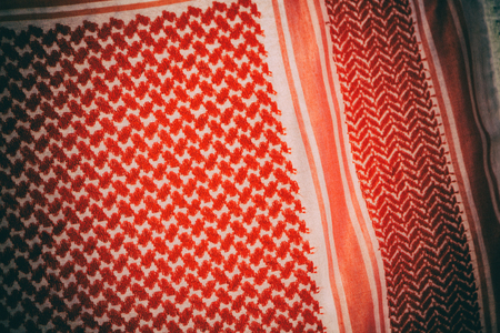 the texture of the cotton traditional symbolic  arabian  scarf like background abstract