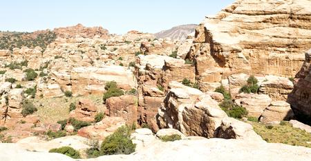 in jordan the scenic valley of dana natural  reserve for walking