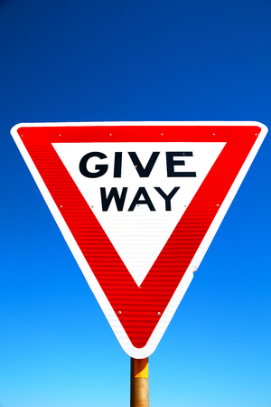 in australia the road street signal of give way