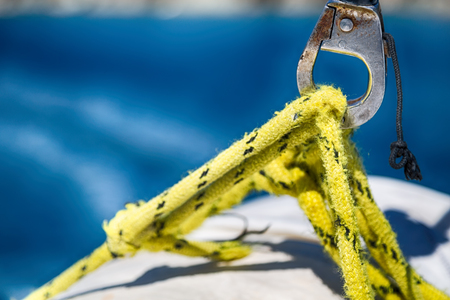in  australia the concept of navigation  whit  vassel rope like background Stock Photo