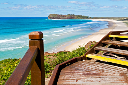 in australia fraser  island the old wooden harbor like holiday concept