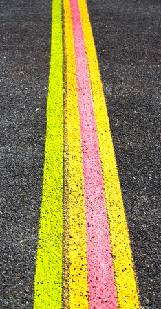 in  australia the line in the asphalt of an airport floor for the right way Stock Photo