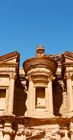 tourist site: the antique site of petra in jordan the monastery  beautiful wonder of the world