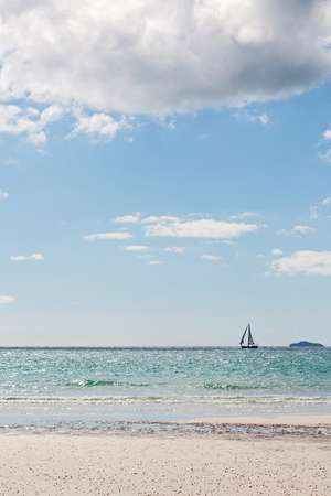 whitehaven beach: in australia the beach of Whitsunday Island like paradise concept and relax