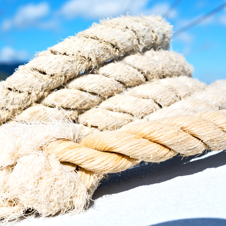 in australian catamaran a old rope in the sky like abstract concept