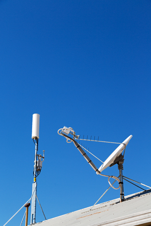satelite: in  australia  the concept of technology whit satellite dish and the sky Stock Photo