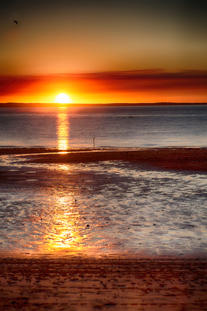in australia the sunset in the ocean like concept of relax and holiday