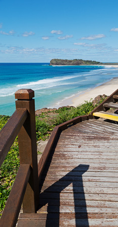in australia the  walkway  to the beach  of Hervey Bay  Fraser Island like paradise concept and relax