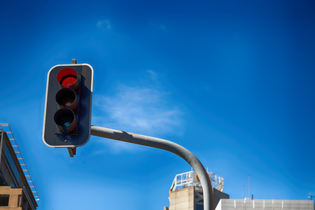 stop and go light: in  australia sydney the traffic light and background of the city