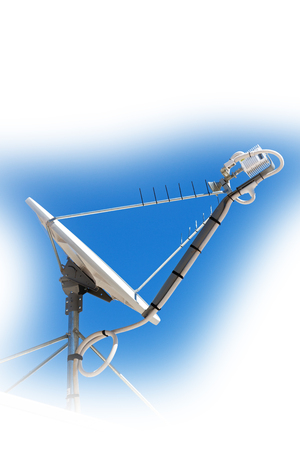 in  australia  the concept of technology whit satellite dish and the sky Stock Photo