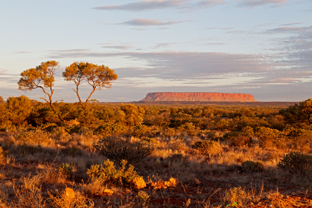 AUSTRALIA,AYERS ROCK-CIRCA  AUGUST 2017-the end of the day in ayers rock park Editorial