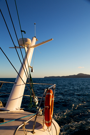 sonar: in the clear empty sky the catamaran radar conceot of safety