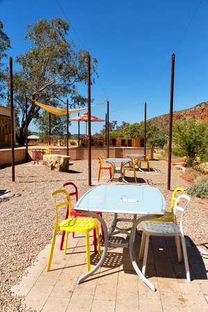 in  australia natuarl kings canyon and the bar near the mountain in the nature