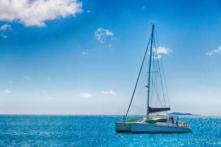 in  australia fraser island and a catamaran in the ocean like luxury cruise
