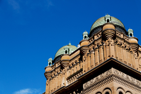 in  australia sydney the antique queen victoria building and the dome in the sky Stock Photo