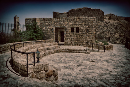 in jordan the old caste of ash shubak and his tower  in the sky