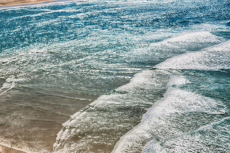 in  australia fraser island abstract concept with  the wave of ocean in the sunlight