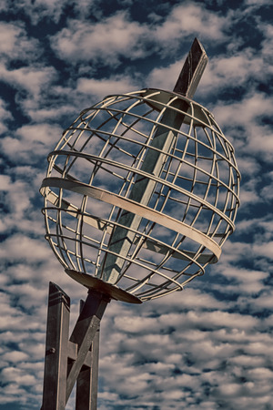 in  australia  the monument of the tropic of capricorn and clouds