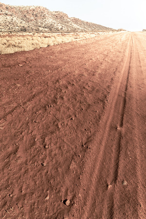 Outback street in the desert concept of adventure Stock Photo