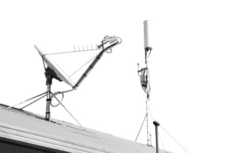 in  australia  the concept of technology whit satellite dish and the sky Foto de archivo