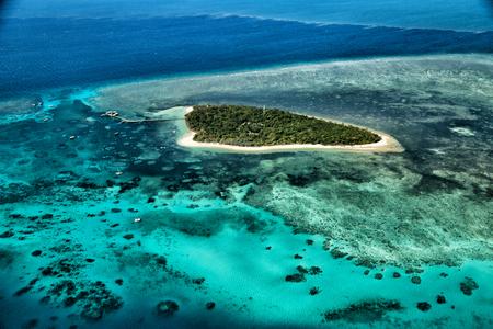 em austrália natuarl, o grande recife do alto conceito do paraíso