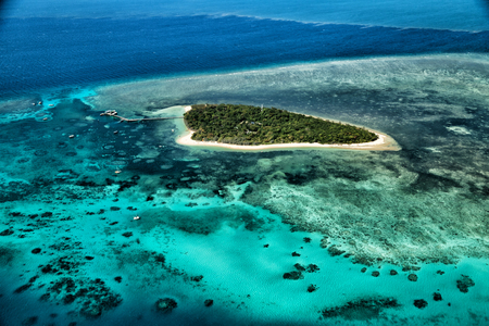 in  australia natuarl park the great reef from the high concept of paradise Stockfoto