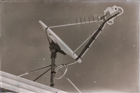 in  australia  the concept of technology whit satellite dish and the sky Zdjęcie Seryjne
