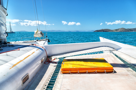 in australia boat and light    in the catamaran deck concept of sport and relax