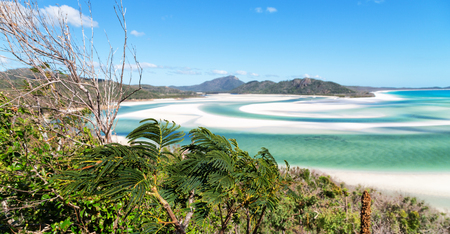 in australia the beach of Whitsunday Island like paradise concept and relax