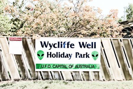 en Australia el signo de Wycliffe bien la capital de los OVNI