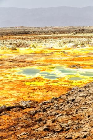 in  danakil ethiopia africa  the volcanic depression of dallol Stock Photo
