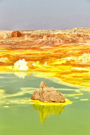 in  danakil ethiopia africa  the volcanic depression  of dallol