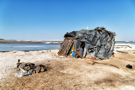 in  ethiopia africa  the hut in the saline work place poverty and work