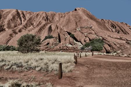 in  australia   the outback  nature wild   and the sacred mountain for the aborigines