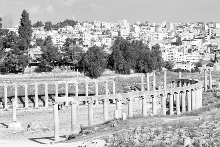 in jerash jordan the antique archeological site classical heritage for tourist Archivio Fotografico