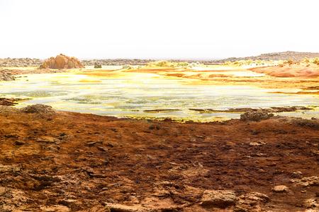 in  danakil ethiopia africa  the volcanic depression  of dallol