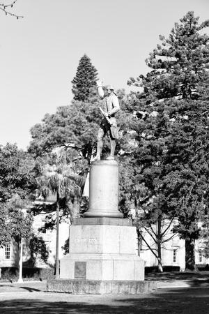 in  austalia  sydney the  antique  statue of captain cook in hyde park