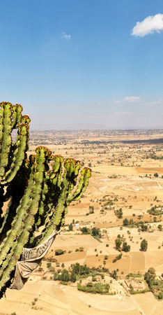 in   ethiopia africa  the panorama in the valley mountain and sky