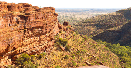 in  australia   the kings canyon nature wild and outback