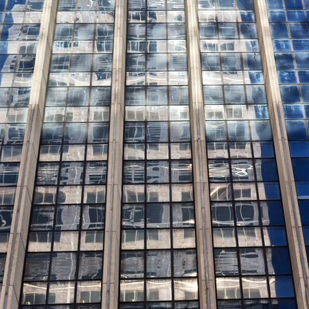 in sydney australia the reflex of the skyscraper in the window like abstract background Banco de Imagens