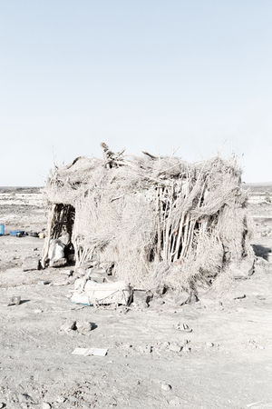 in   ethiopia africa  the poor house of people in the desert of stone Stock Photo
