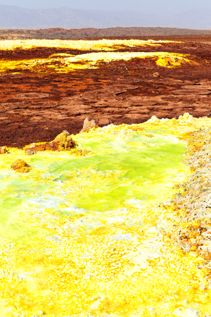 in  danakil ethiopia africa  the volcanic depression  of dallol lake and acid sulfer like in mars Stock fotó