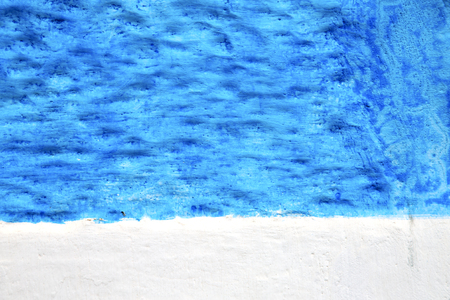 blue   in texture wall and  morocco africa abstract Imagens - 97484866