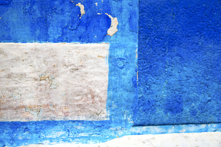 blue   in texture wall and  morocco africa abstract Imagens - 97482412