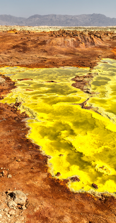 Dallol volcanic area in Danakil Depression of Ethiopia Africa