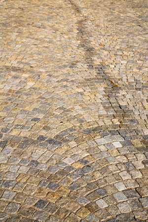 in mozzate  street lombardy italy  varese abstract   pavement of a curch and marble Stock Photo