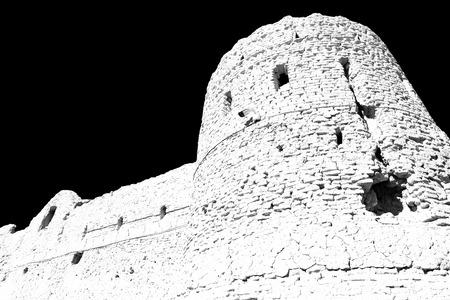 The old castle near Saryadz in Iran Stock Photo