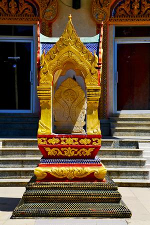 kho samui bangkok in thailand incision of the buddha gold  temple