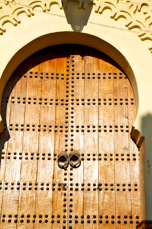 historical in  antique building door morocco style africa   wood and metal rusty