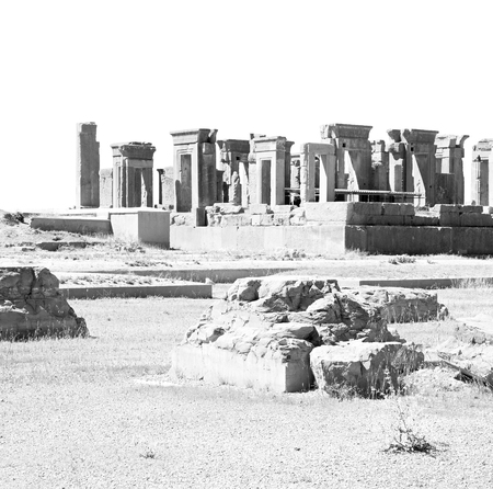 in iran persepolis the old  ruins historical destination monuments and ruin Stock Photo